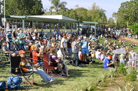 PASSION: Large crowds, like this one recently, have been a feature of IRL grand finals at North Ipswich Reserve.