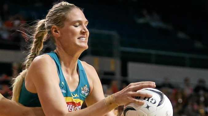 SHARPSHOOTER: Australia's Caitlin Bassett will be a handful for New Zealand to contain when they clash this weekend.