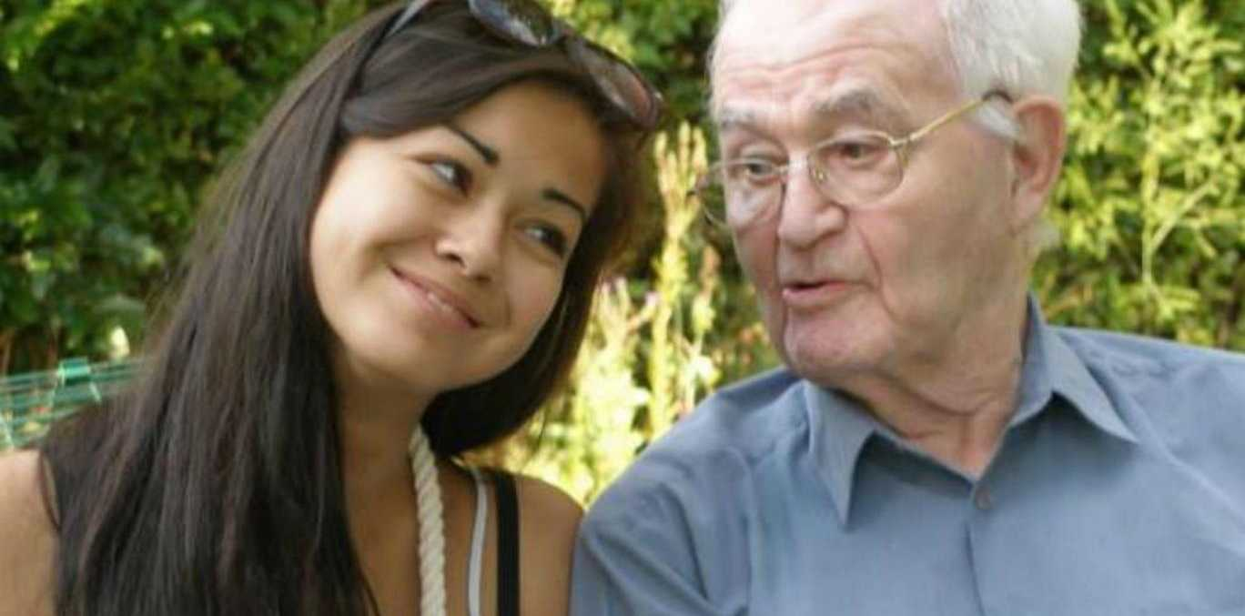 Mia and her grandfather Norman Ayliffe