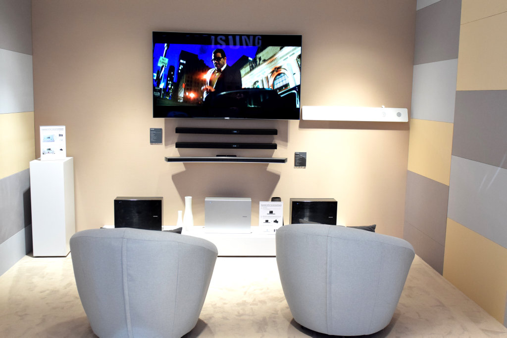 Samsung launches it's new tech advances at IFA in Berlin. Flatscreen televisions and wireless speakers were huge.