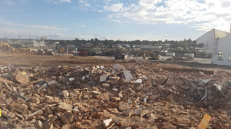 Bunnings Warehouse is redeveloping the site of the old Toowoomba Foundry. Photo Andrew Backhouse / The Chronicle