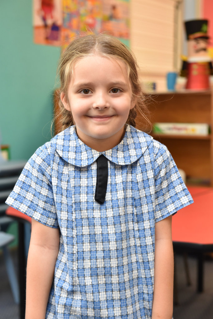 Students talk about their dads - prep student Isabella Carson,5, from Kawungan State School.