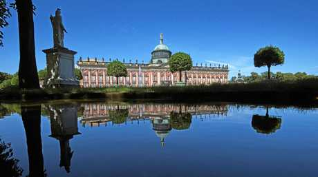 A view of the new palace in the western part of Sanssouci Park in Potsdam, Germany.