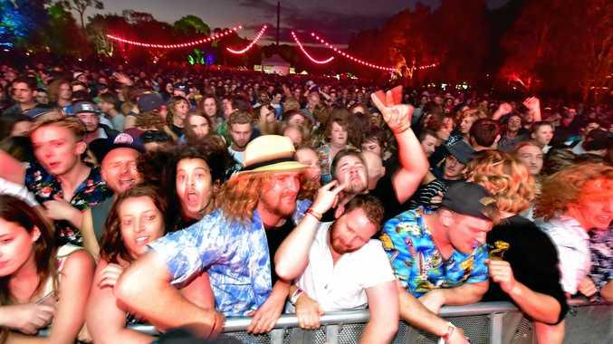 The crowd enjoys last year's inaugural Maroochy Music and Visual Arts Festival.