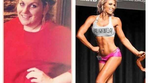 BEFORE AND AFTER: Tamara's transformation.