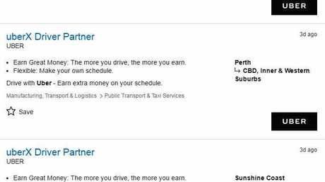 HUNT: There are plenty of job ads on SEEK at present as Uber nears being legalised in Queensland.