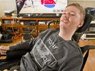 NEW WHEELS NEEDED:  Mitchell Fletcher, 25, has muscular dystrophy and his hoping to buy a new van which will increase his freedom of movement. Wednesday Aug 31 , 2016.