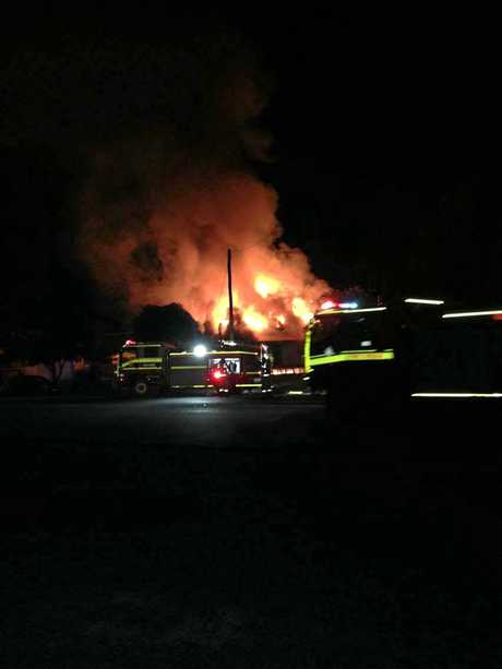 The house on Glasson Street was engulfed in flames early on Wednesday morning.