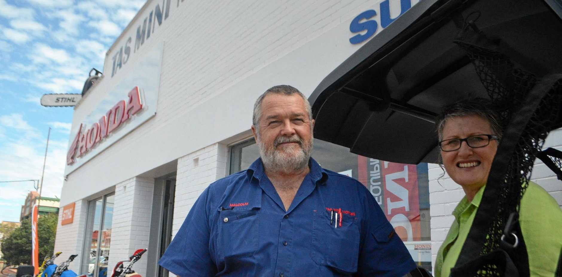 THIRTY YEARS: Tas Mini Motors has been owned by Malcolm and Linda Marks since the 80s. They designed and built their shop floor and repair bays.