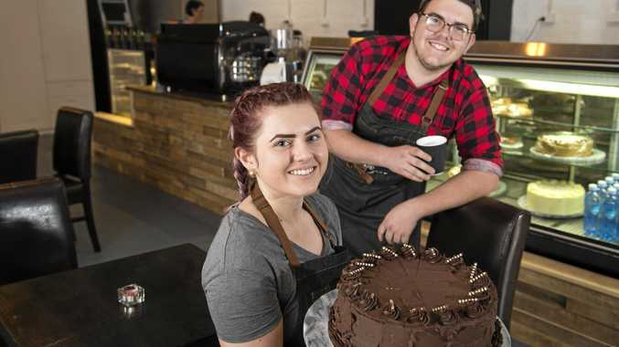 NEW CAFE: Isabella Mayne and Connor Bowtell look forward to serving customers at The 3rd Monkey.