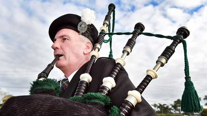 PIPING UP: Hervey Bay RSL Pipe Band pipe major Hugh McBroom will perform at RiverFest tomorrow with the band.