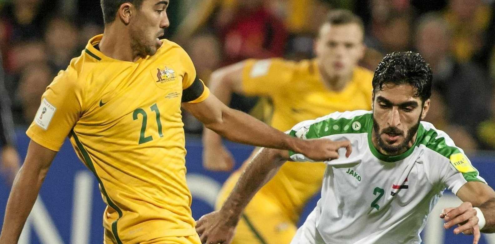 Massimo Luongo for the Socceroos and Ahmad Ibrahim for Iraq.