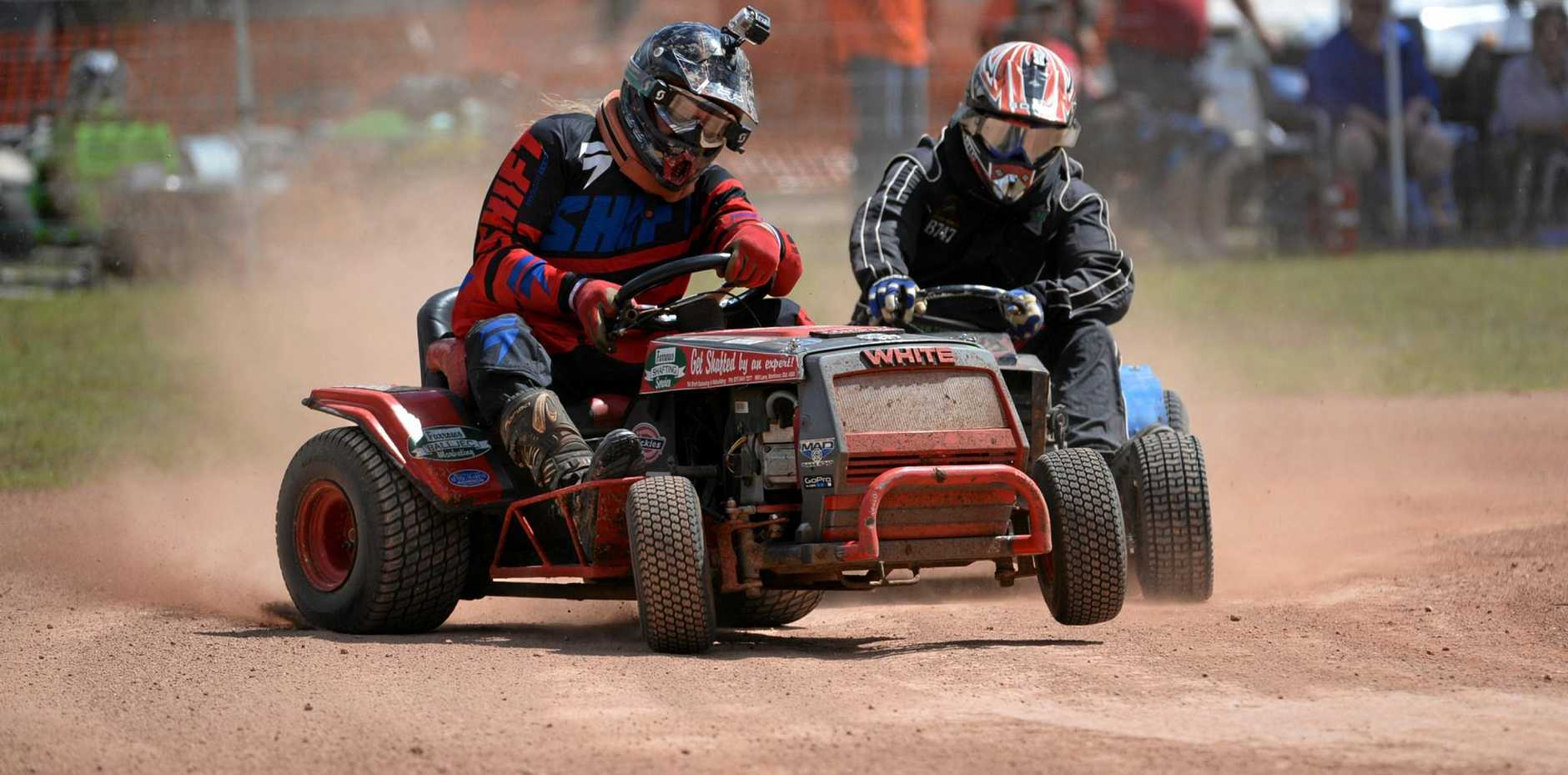 CUT ABOVE: The Bundaberg Turfburners will be racing mowers at the Bullyard Sports and Recreation grounds tomorrow.