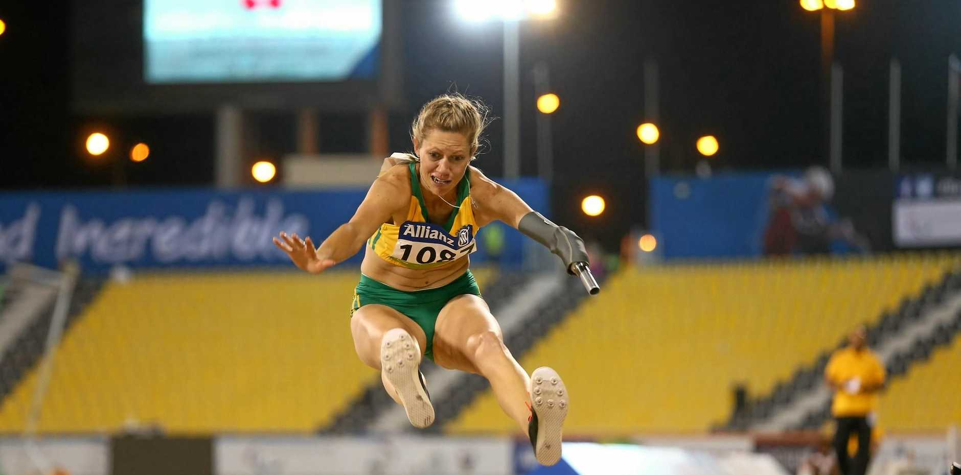 LEAP: Carlee Beattie has just started her competition at the Paralympics.