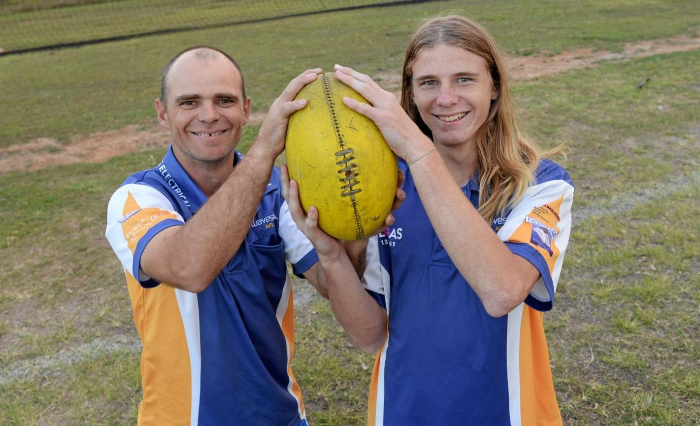 Father and son Paul and Codie Welsh prepare for their first grand final.