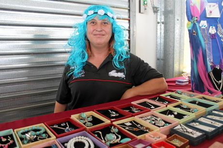 Farleigh woman Rabbit Evetts sells jewellery at her stall called Back to Reality.