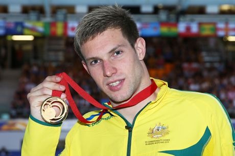 Daniel Fox with his Commonwealth Games gold medal from 2014 in Glasgow.