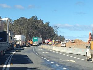 Pacific Hwy reopens at Halfway Creek