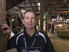 Competitive wool handler and passionate advocate for the industry Bruce Lines at the Jackie Howe Festival of Golden Shears at Jondaryan Woolshed, Saturday, September 3, 2016.