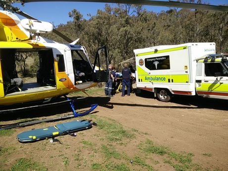 The scene where a teenager was injured after falling off his bike. Photo Contributed