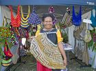 MY CULTURE: Asonito Kirupae sold traditional Papua New Guinean bags at Sunday's Gladstone Multicultural Festival.