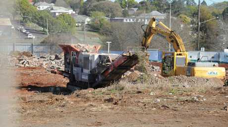 The Bunnings building site on Ruthven site. Photo Andrew Backhouse / The Chronicle