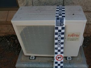 Police: stolen airconditioners could be sold on black market