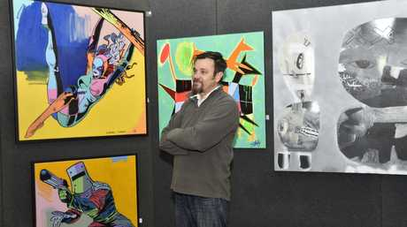 Downlands Art Show curator Evan Hollis prepares for the 2016 show this weekend.