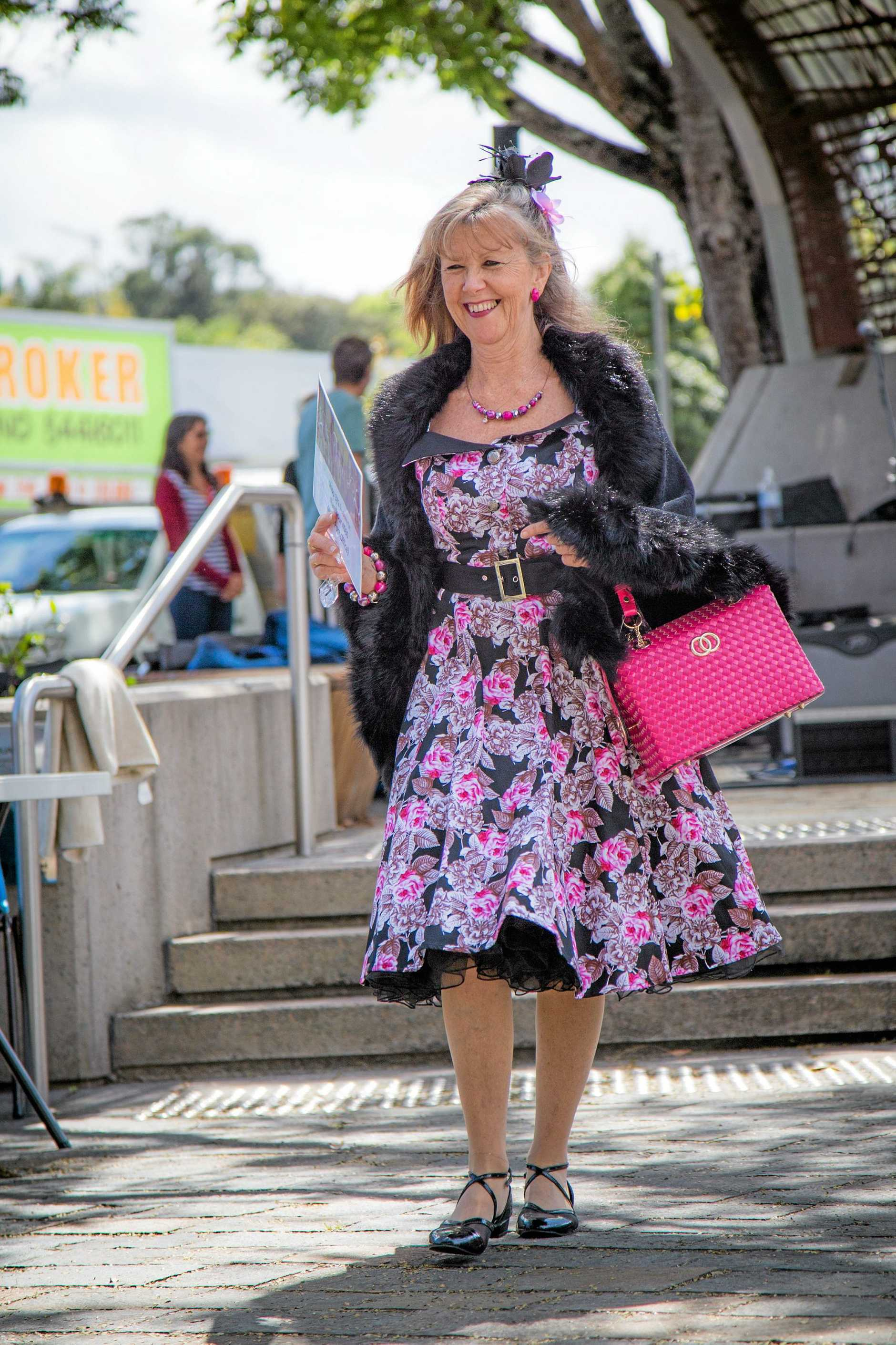 Kath modelling fashion from Tiptoe Boutique.