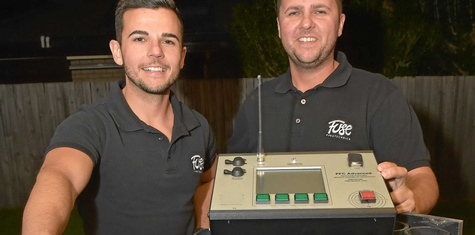 EXPLOSIVE COMPANY: Mark and Michael Della Sabina have started Fuse Pyrotechnics, the Sunshine Coast's newest fireworks company, together.