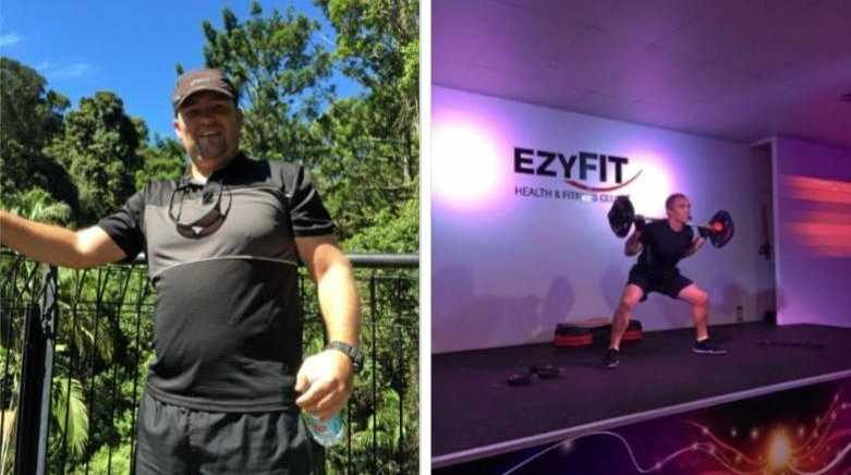 BEFORE AND AFTER: Andy Bailey has lost 30kg and turned his life around.
