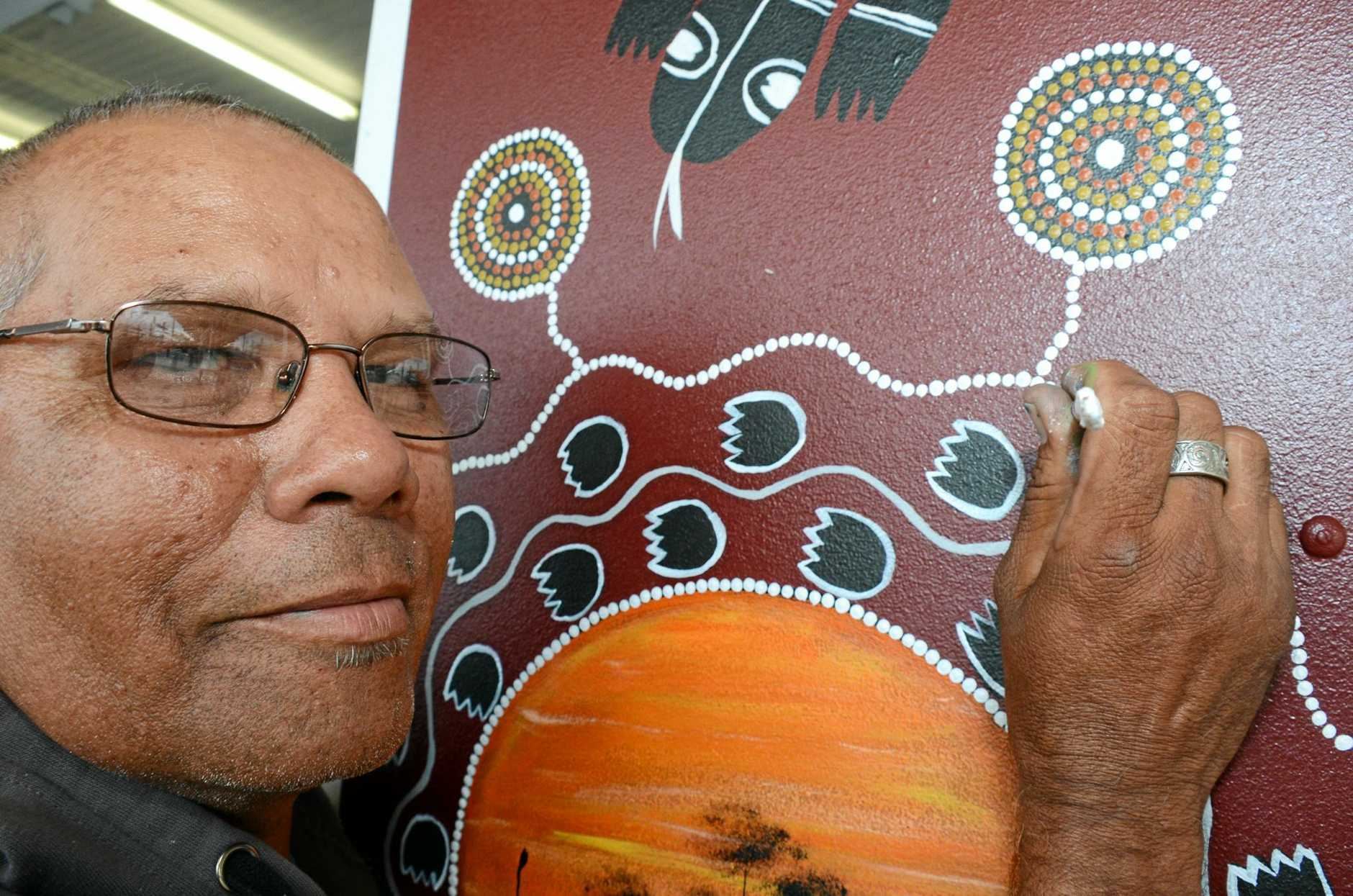 SPECIAL SPACE: South Burnett artist Anthony Donas painted two murals for the new Art Scene gallery in Nanango.