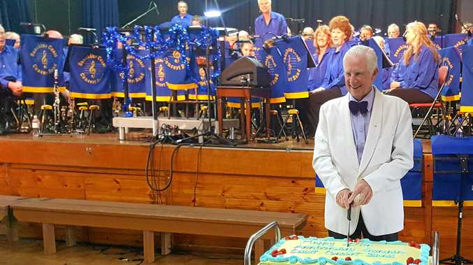 MILESTONE: The Sunshine Coast Concert Band anniversary cake.