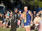 Power coach Michael Gay names The Waves' Klint Wagstaff the winner of their Coach's Award. AFL Wide Bay Grand Final: The Waves v Bay Power.
