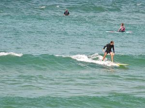 Cloudy, wet and a swell week for surfers