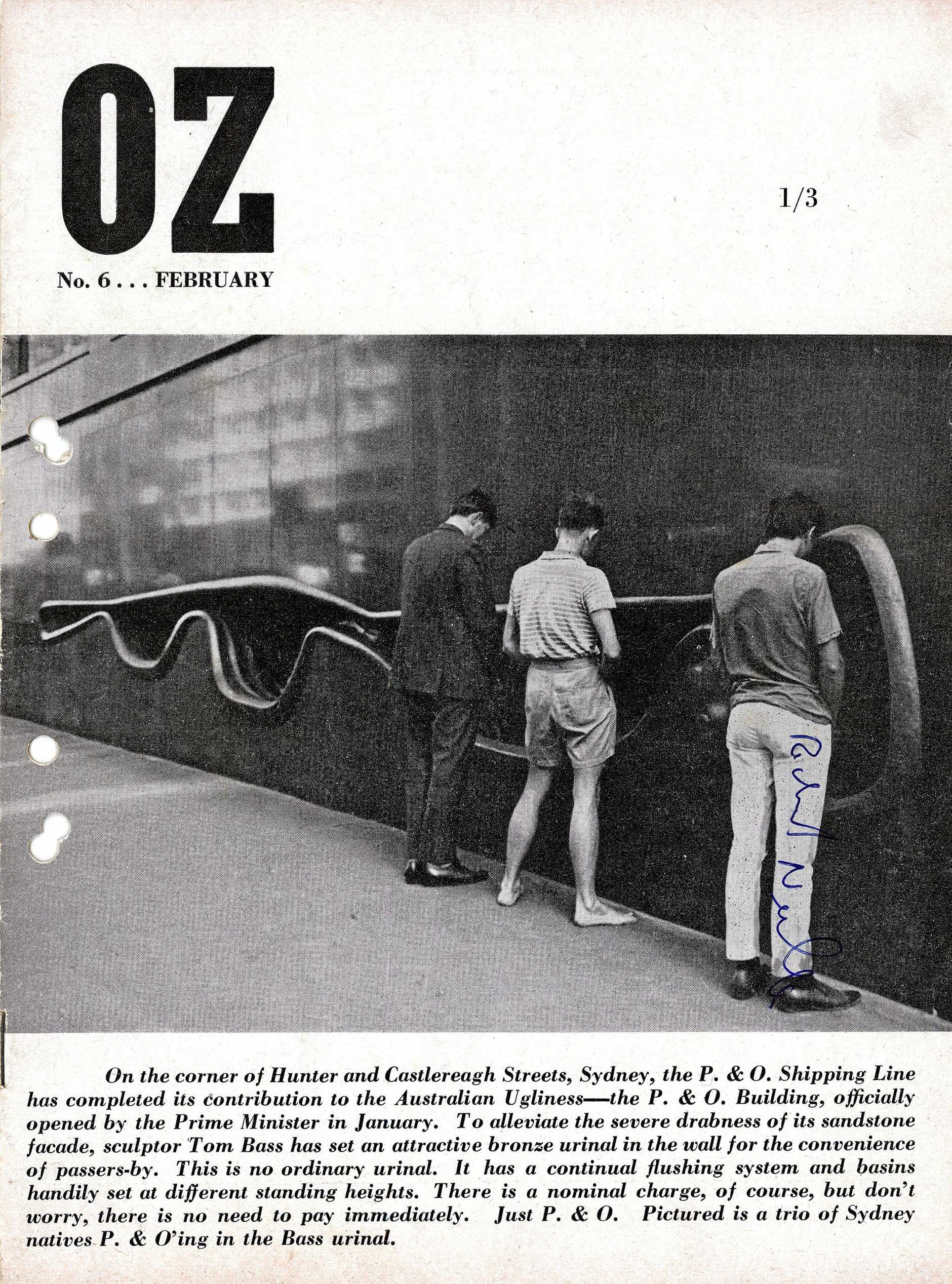The front cover of Oz Sydney's sixth edition from February 1964 (AAP Image/University of Wollongong)