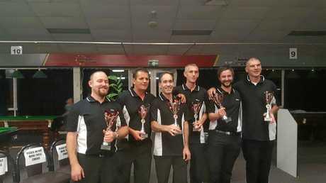 Darryl Cooper and Kiran Wallace (co-captaining) Allan Davies, Greg Nicholas, Corey Stimson and Steven Craig.