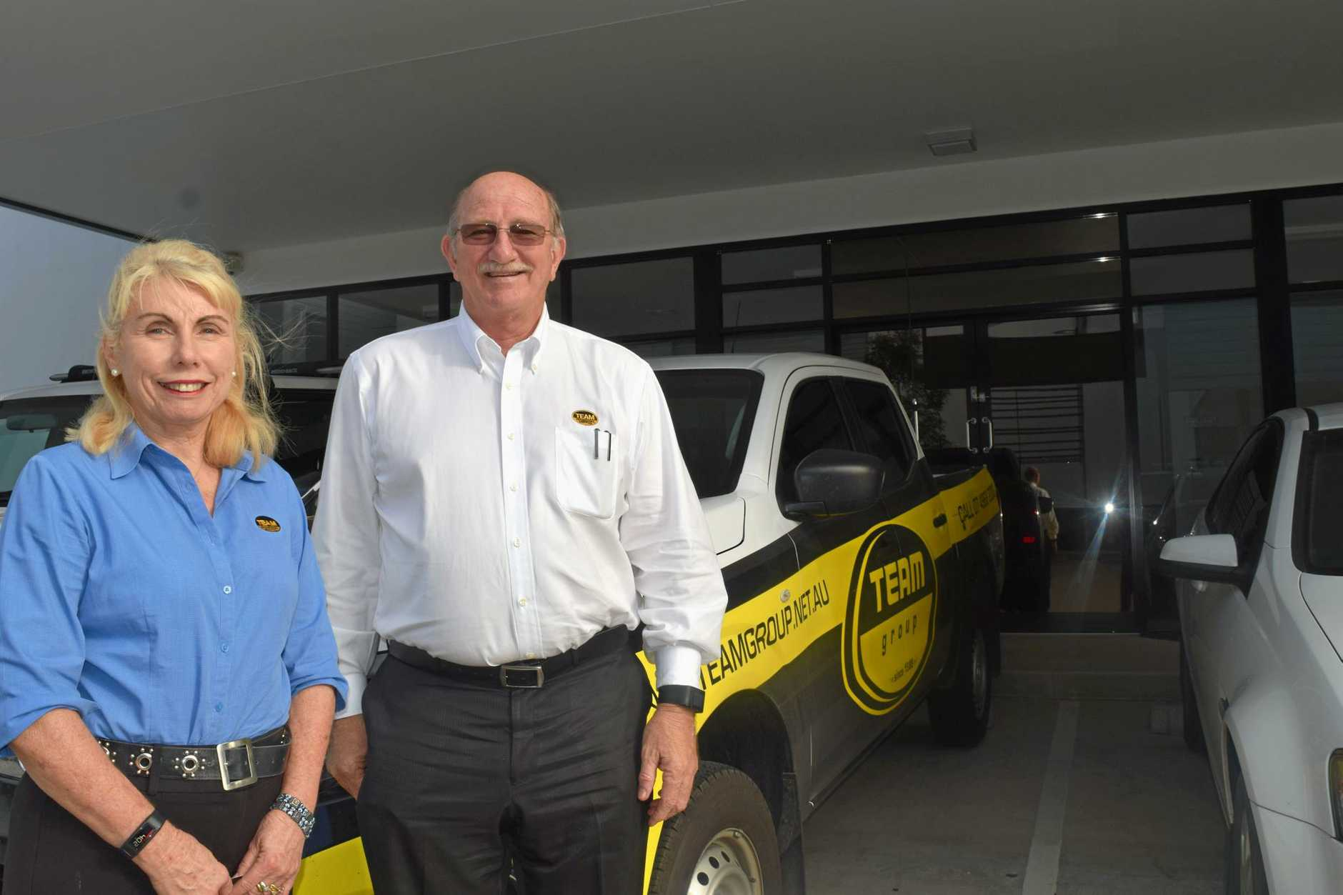 BUILDING A FUTURE: Jim and Therese Hegerty, of engineering construction company Team Group, believe the mining and construction industry is improving in Mackay.