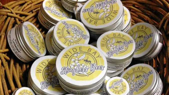 BEE RANGE: Wide Bay Stingless Bees sells homemade honey, lip balm and beard butter.