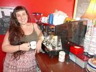ARTISTIC: Tilted Teaspoon owner Skye Harrison says latte art, which her staff specialises in, is part of making her cafe's coffee look as good as it tastes.