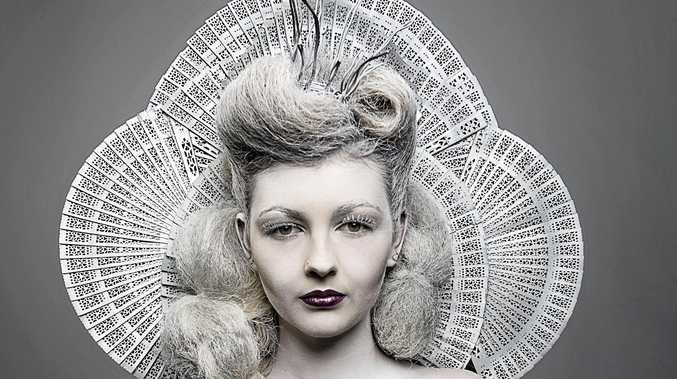 CREATIVE LOOK: Debbie Schwenderling of Applebom Beauty Hair and Wellbeing created this masterpiece for the Senior Avant Garde section.