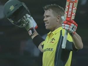 Warner scores 106. Australia wins series.
