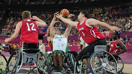 Tige Simmons in action during the 2012 Paralympics in London.