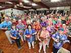 Members of the Hervey Bay ukulele group HUMPS at rehearsel at the Hervey Bay Senior Citizens Hall.