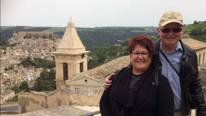 Lea Formigoni and Andrew Hawke on holiday in Sicily this year.