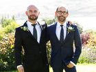Andy and Craig pictured after their wedding in Queenstown, New Zealand in a scene from Married At First Sight.