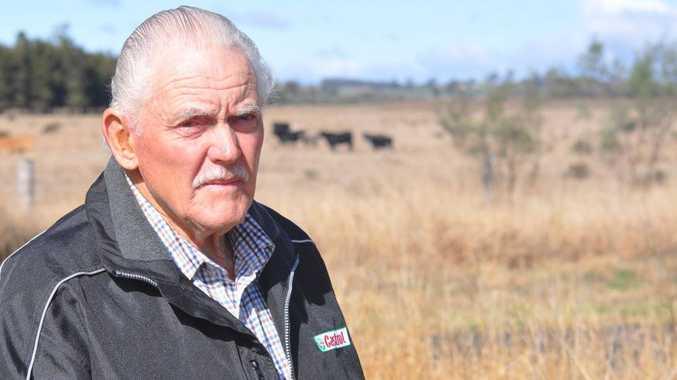 Millmerran farmer Kelvin Turner remains stoic despite his home ransacked and razed by callous thieves.