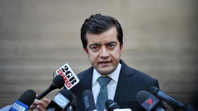Labor Senator Sam Dastyari fronts the media in Sydney, Tuesday, Sept. 6, 2016. Senator Dastyari faced questions about a $1670 bill paid by a company with links to the Chinese Government. (AAP Image/Dean Lewins) NO ARCHIVING