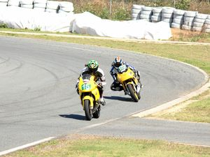 Wheeler on fire at Whitsunday Moto Sport track