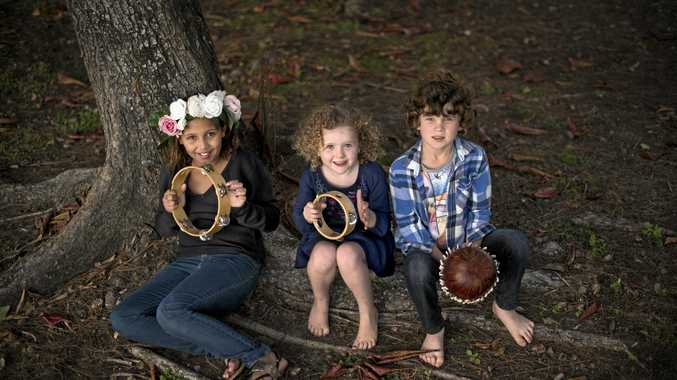 MUSIC: Milly Armstrong, Bella Clifford and Joe Clifford prepare for the first Little Tribe Festival being held this month.